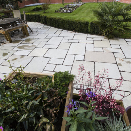 Honey Antiqued Limestone Paving