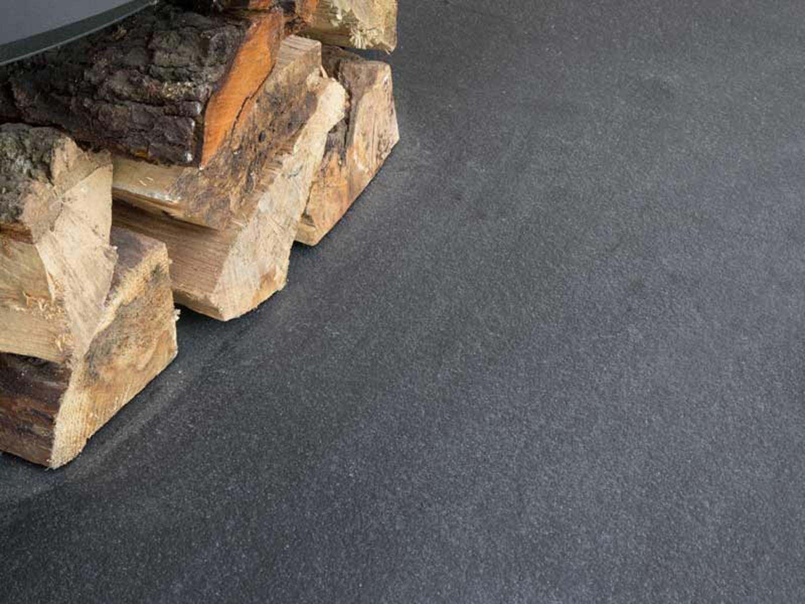 Charcoal Grey Riven Limestone Hearth