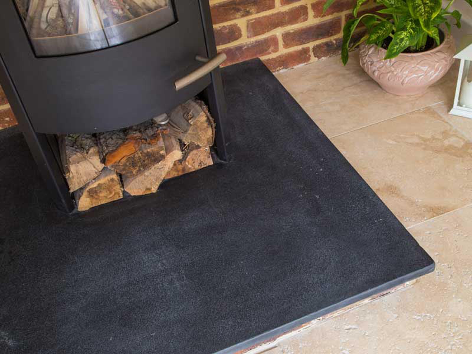 Charcoal Grey Riven Limestone Hearth Tiles Dt Stone Tile Supplier